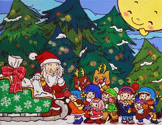 クリスマスの絵は8年ぶりです★