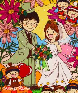 #絵のある暮らし #絵のある生活 #暮らしを彩る #暮らしを楽しむ #こどもの世界 #絵を飾る #楽描き職人 #日常 #日常の風景 #植物のある暮らし #笑顔になれる #子どもの頃 #無邪気 #結婚式 #ウェルカムボード