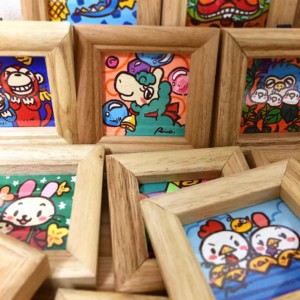 楽描き職人、子どもの世界、暮らしを彩る、暮らしを楽しむ、絵のある暮らし、絵のある生活、楽描き、日常、日常の風景、植物のある暮らし、絵を飾る、無邪気、笑顔になれる、子どもの頃、POWER SEED、阪神スモアニと森のいきもの